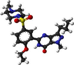 Viagra (sildenafil), trojrozměrný model